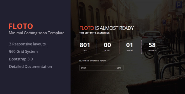 ThemeForest Floto- Responsive Under Constraction Template 8431161