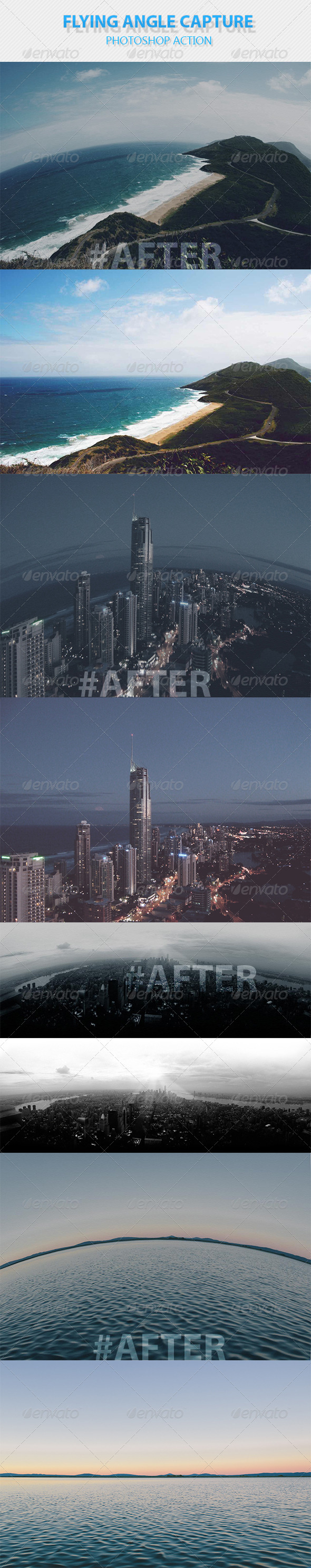 GraphicRiver Flying Angle Capture Photoshop Action 8431208