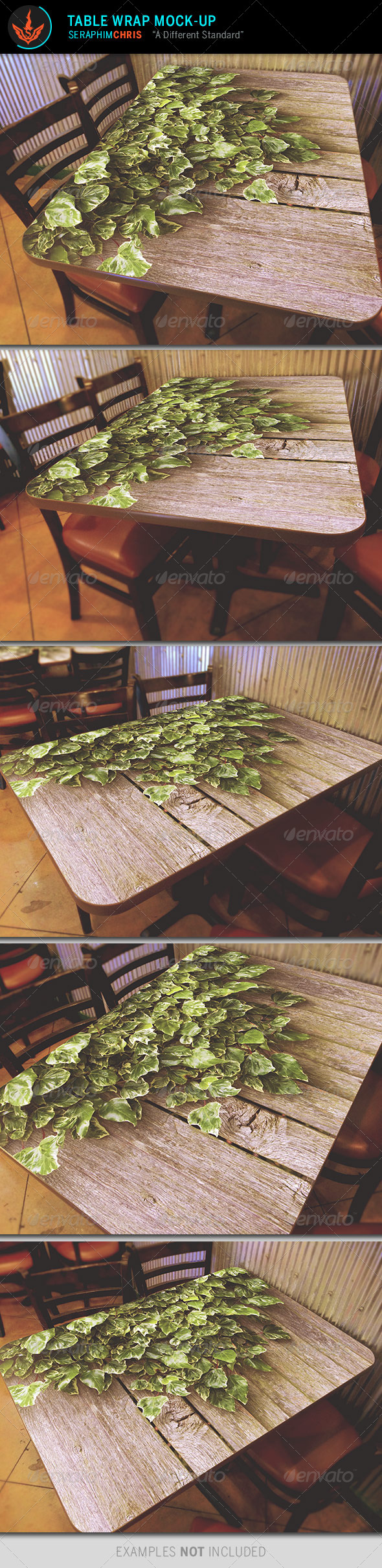 GraphicRiver Table Wrap Mock Up Template 8431480