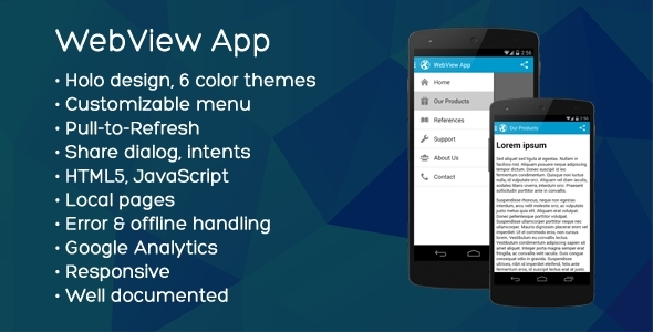 CodeCanyon Universal Android WebView App 8431507
