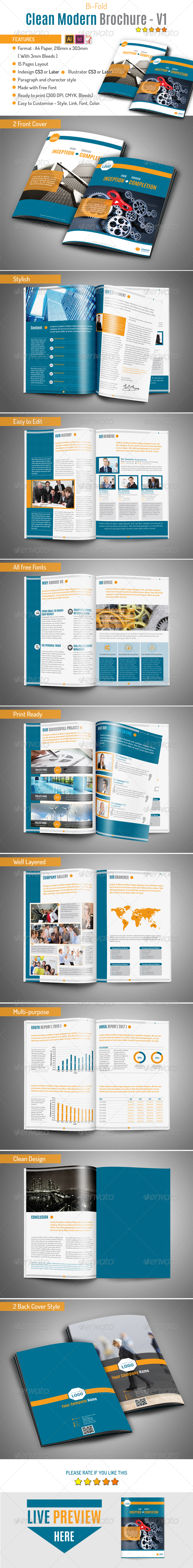 GraphicRiver Clean Modern Brochure v1 8397719