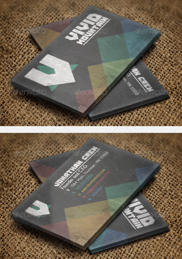 Vivid Mountains Business Card