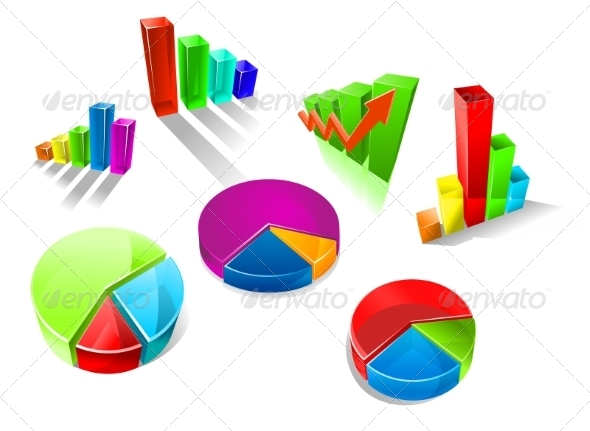 GraphicRiver Set of Colorful 3D Graphs and Charts 8431802
