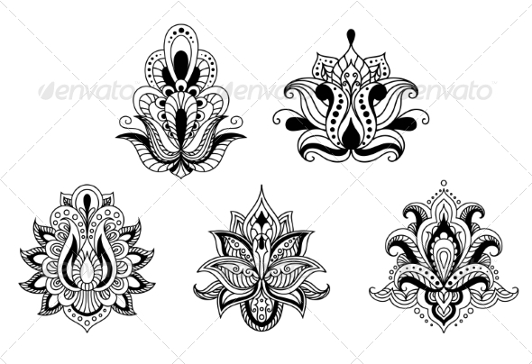 GraphicRiver Persian Style Floral Motifs 8431805