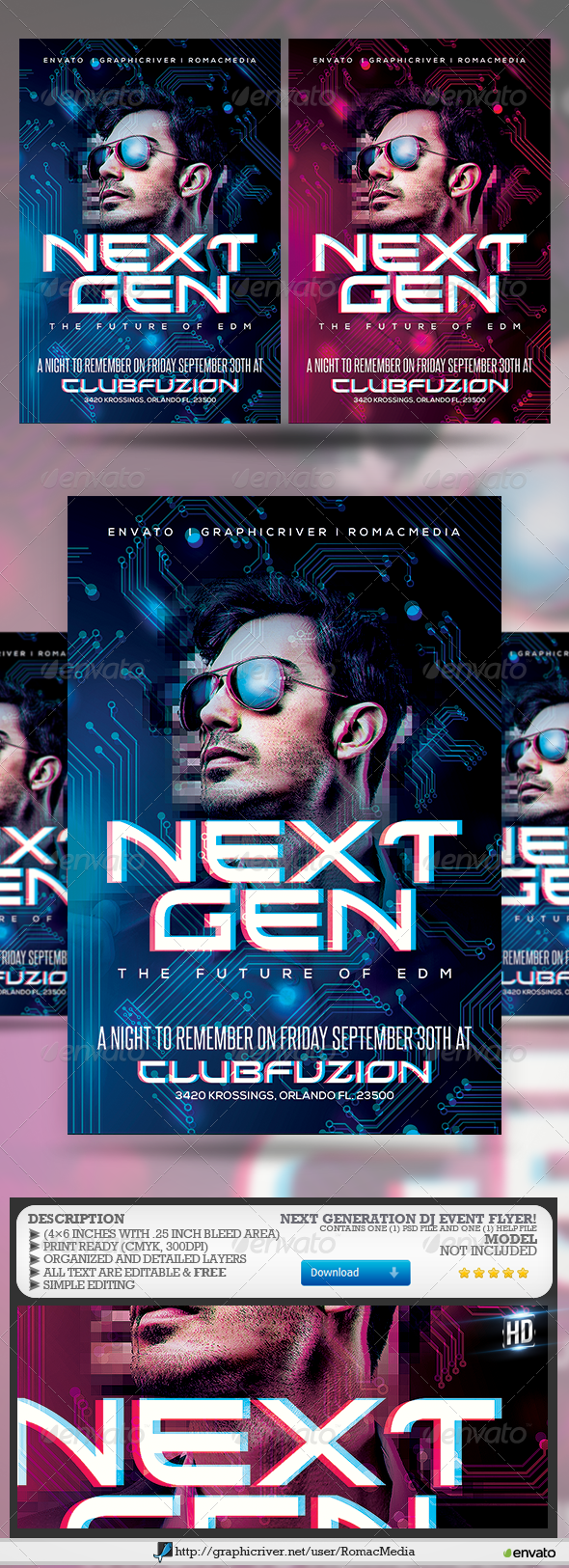 GraphicRiver Next Generation DJ Party Flyer 8431813