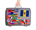Used plastic suitcase with stickers - PhotoDune Item for Sale