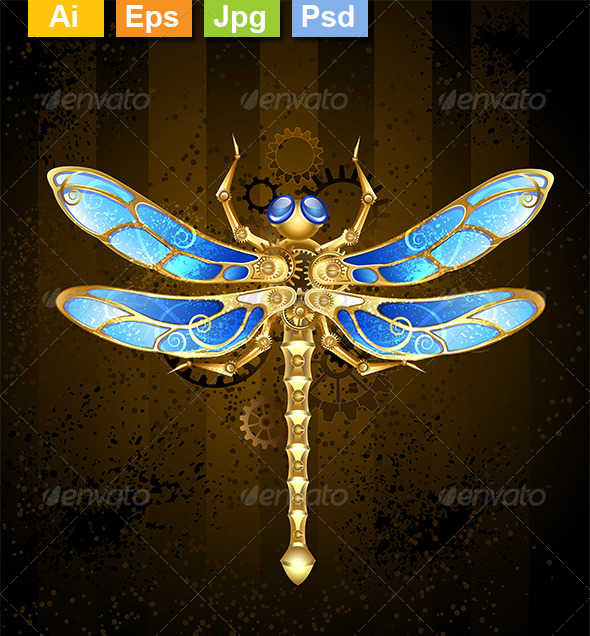 GraphicRiver Mechanical Dragonfly 8431885