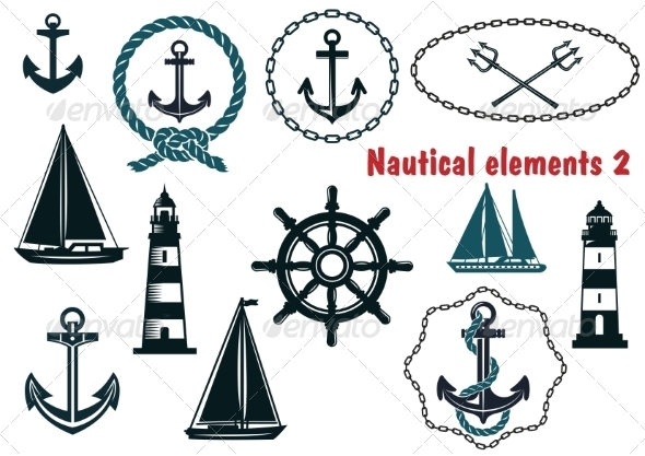 GraphicRiver Set of Nautical Elements 8431886