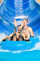 People water slide at aqua park - PhotoDune Item for Sale