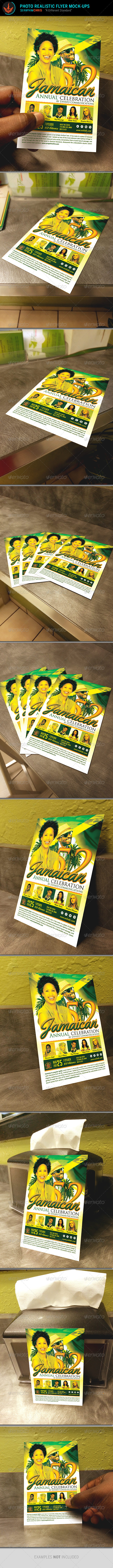 GraphicRiver Photo Realistic Flyer Mock Up Templates 8432282