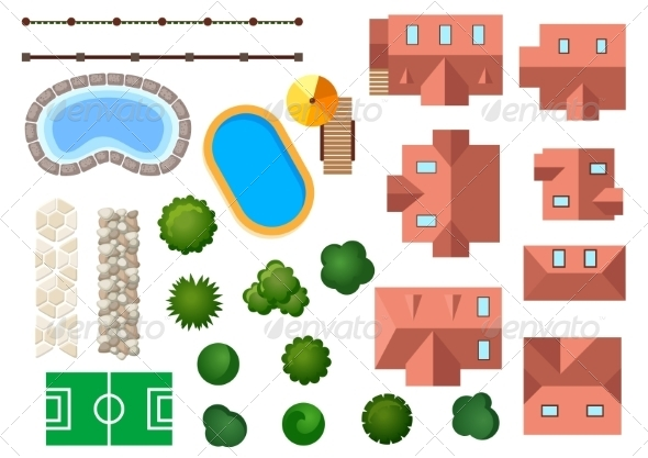 GraphicRiver Garden and Architectural Elements 8432374