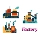 Flat Factories Icons - GraphicRiver Item for Sale