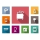 Flat Home Appliances Icons - GraphicRiver Item for Sale