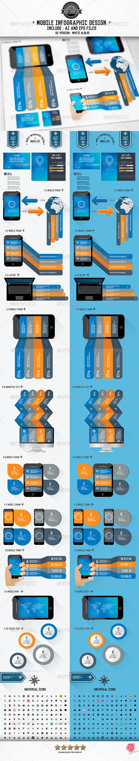 GraphicRiver Mobile Phone Infographics Design 8432431