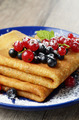 Crepes with berries - PhotoDune Item for Sale