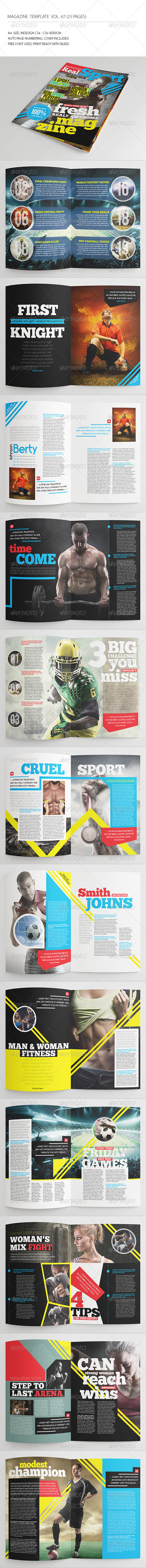 GraphicRiver 25 Pages Sport Magazine Vol67 8432900