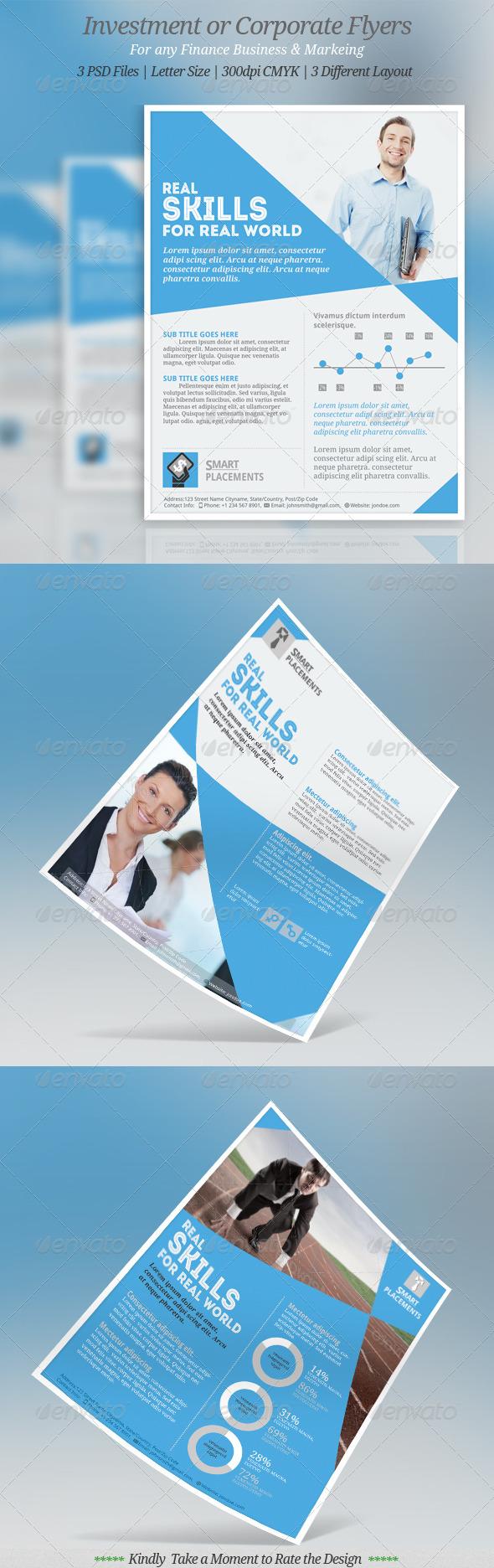 GraphicRiver Multipurpose Corporate Flyer Templates 8432901