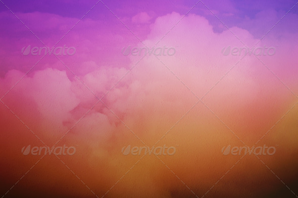Clouds - Above the Heavens Background - Stock Photo - Images