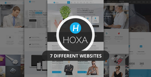 Hoxa - Responsive MultiPurpose HTML5 Template - Corporate Site Templates