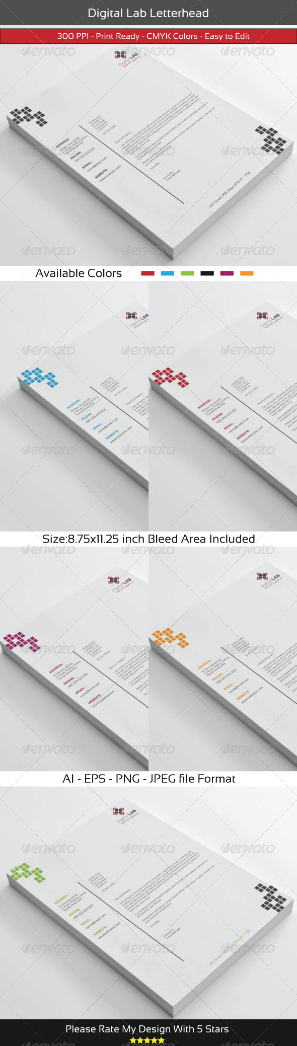GraphicRiver Digital Corporate Letterhead 8433279