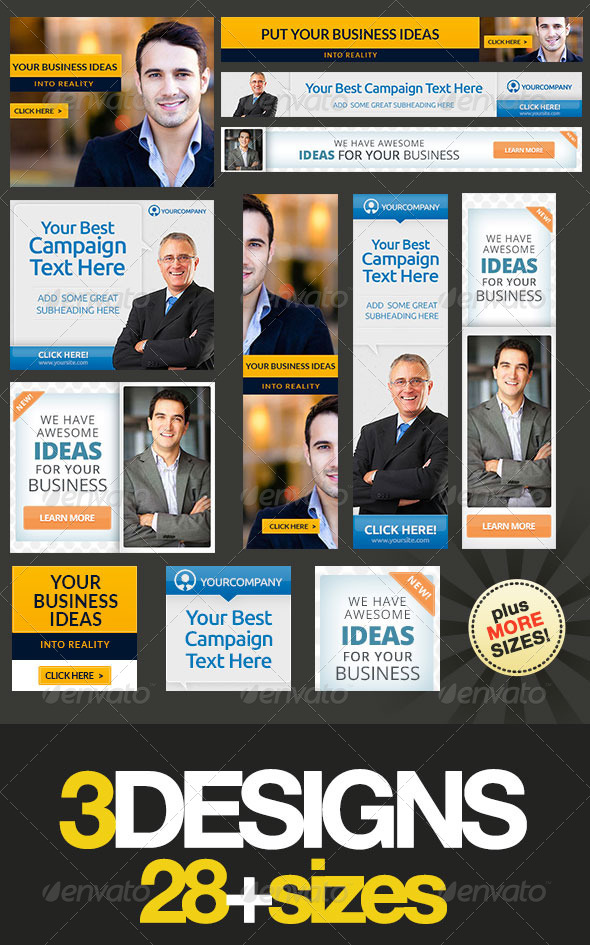GraphicRiver Corporate Web Banner Set Bundle 11 8433329