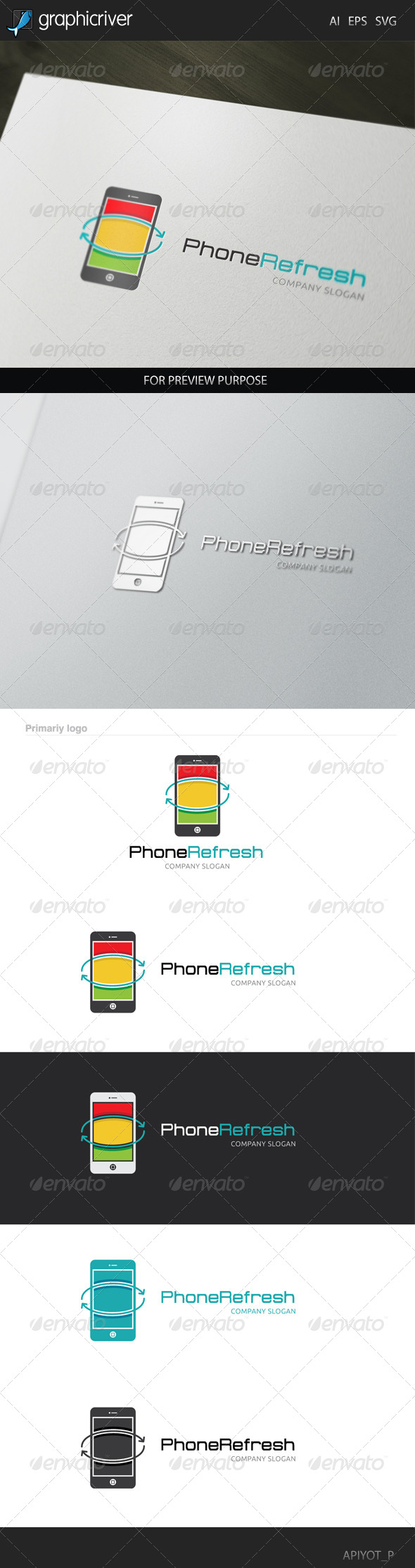 GraphicRiver Phone Refresh Logo 8433332
