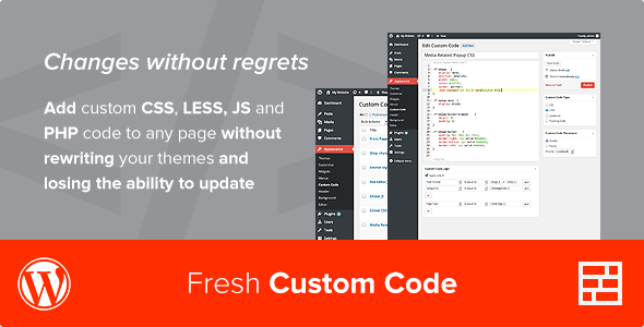 Fresh Custom Code - WordPress Plugin - CodeCanyon Item for Sale