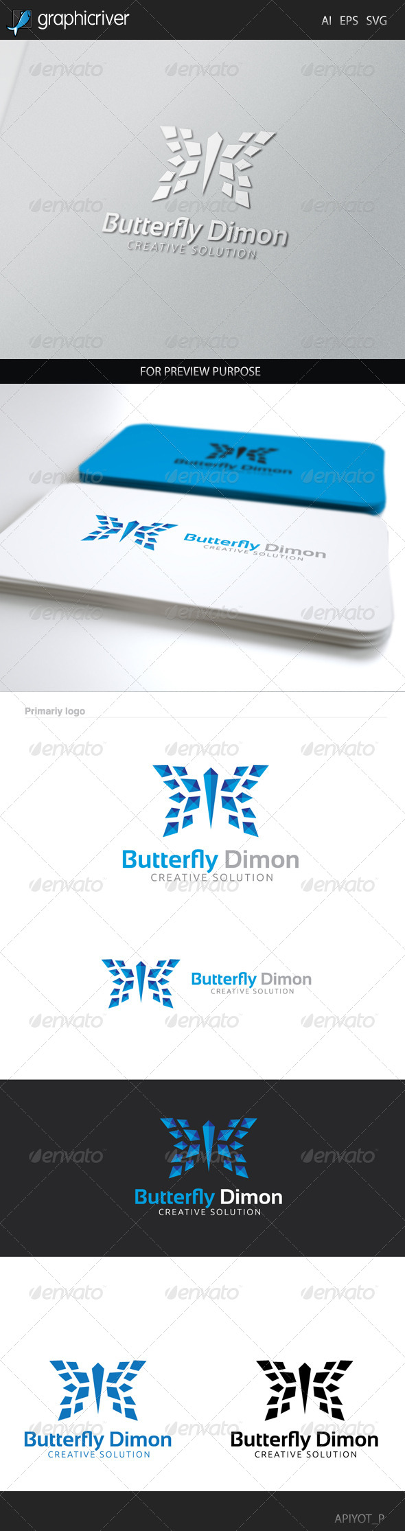 GraphicRiver Butterfly Dimon Logo 8433374