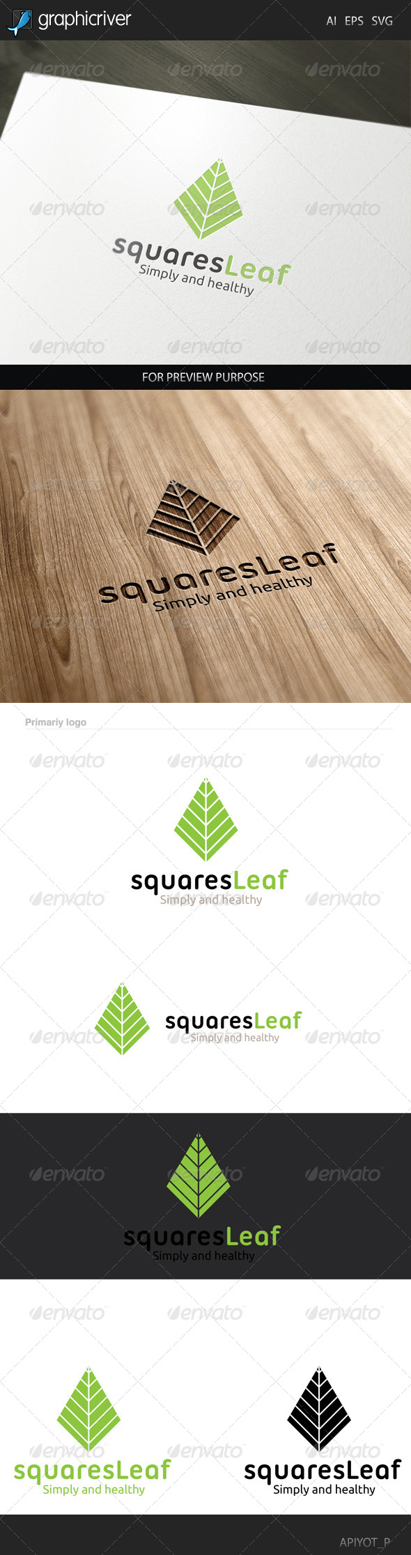GraphicRiver Squares Leaf Logo 8433432