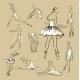 Vector Sketch of Girl's Ballerinas Set - GraphicRiver Item for Sale