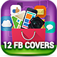 12 Facebook Covers - Flat Agency - GraphicRiver Item for Sale
