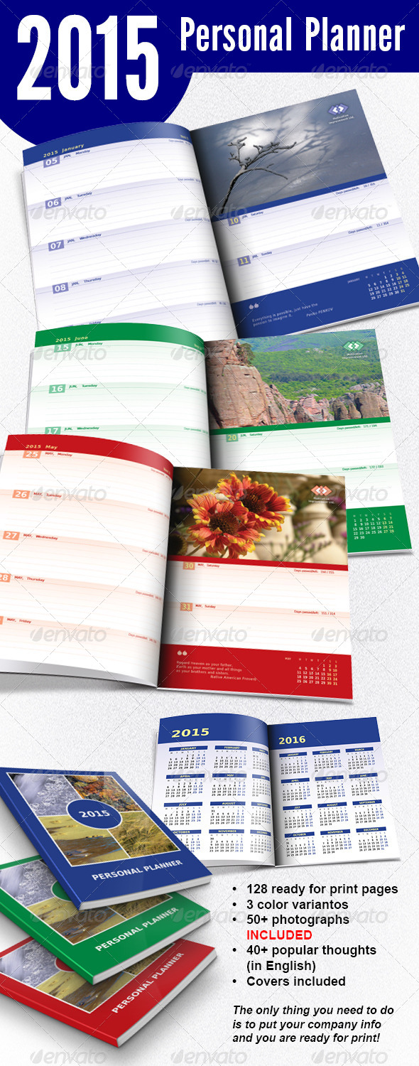 GraphicRiver 2015 Personal Planner 8433485