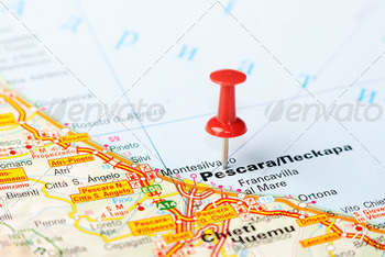pescara italy map - PhotoDune Item for Sale