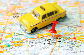 piacenca italy map taxi - PhotoDune Item for Sale