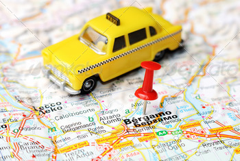 bergamo italy map taxi - PhotoDune Item for Sale