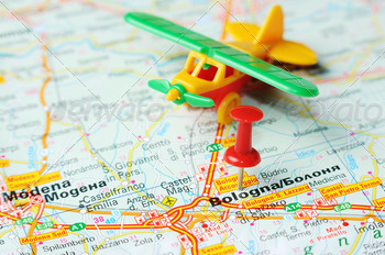 bologna italy map airplane - PhotoDune Item for Sale