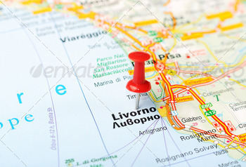 livorno italy map - PhotoDune Item for Sale