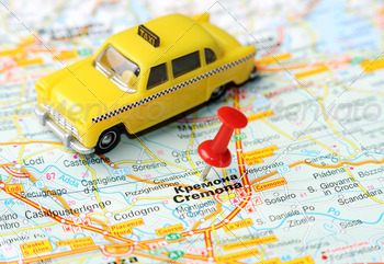 kremona italy map taxi - PhotoDune Item for Sale