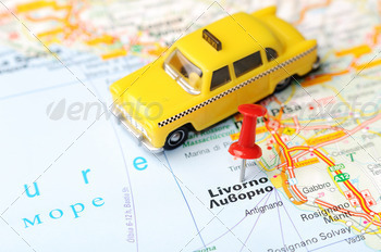 livorno italy map taxi - PhotoDune Item for Sale