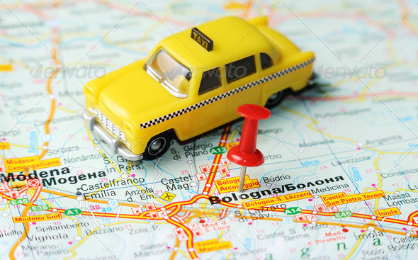 bologna italy map taxi