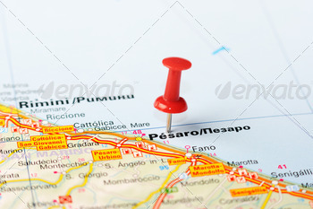 pesaro italy map - PhotoDune Item for Sale