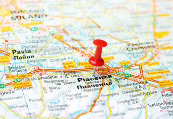 piacenca italy map - PhotoDune Item for Sale
