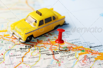 cesena italy map taxi - PhotoDune Item for Sale