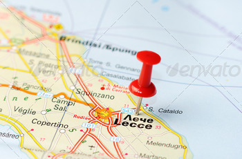 lecce italy map - PhotoDune Item for Sale