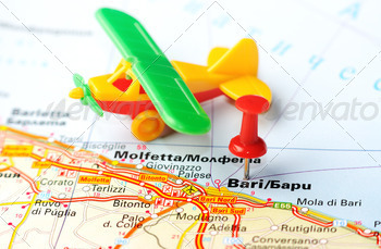 bari italy map airplane - PhotoDune Item for Sale