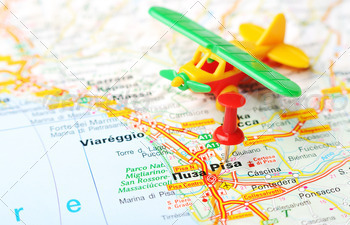 pisa italy map airplane - PhotoDune Item for Sale