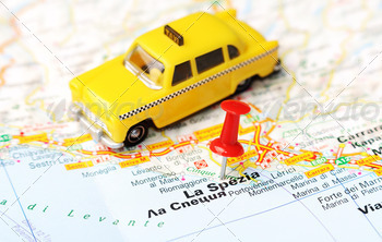 La Spezia Italy map taxi - PhotoDune Item for Sale