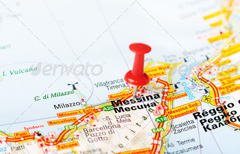 messina italy map - PhotoDune Item for Sale