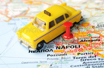 napoli italy map taxi - PhotoDune Item for Sale