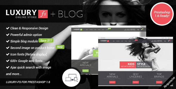 ThemeForest LUXURY-FS Responsive Prestashop 1.6 Theme & Blog 8285724